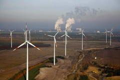 Ein Windpark Lizenzfreies Stockbild