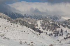 Ein Winter gestaltet landschaftlich Stockfotografie