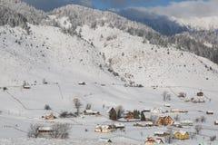 Ein Winter gestaltet landschaftlich Stockbild