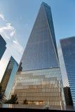 Ein World Trade Center außen vom Bodennullpunkt Lizenzfreies Stockfoto