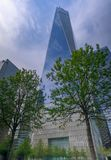 Ein World Trade Center-Bau in New York City Stockbild