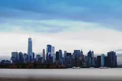 Ein World Trade Center und New- Yorkskyline Lizenzfreies Stockbild