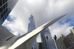 Ein World Trade Center und Oculus Lizenzfreie Stockbilder