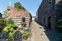 Ein wunderlicher Weg in der Yorkshire-Stadt von ingleton lizenzfreie stockfotos