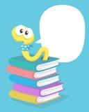 Ein Wurm auf den Büchern Lizenzfreies Stockfoto