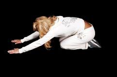 Ein Yogamädchen. Stockfoto