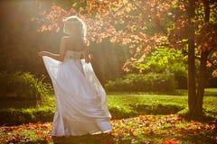 Ein zartes Porträt einer schönen Braut mit einem Diadem von Blumen lizenzfreies stockbild