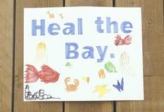 Ein Zeichen, das ï ¿ ½ liest, heilen das Bayï-¿ ½ Stockfoto