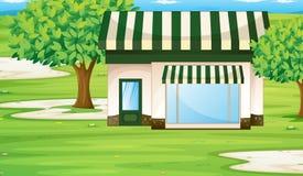 Ein Zelthaus lizenzfreie abbildung