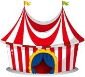 Ein Zirkuszelt stock abbildung