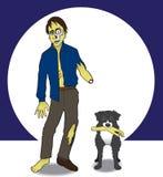 Ein Zombie und sein Hund Lizenzfreie Stockbilder