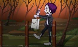 Ein Zombie am Wald Stockfoto