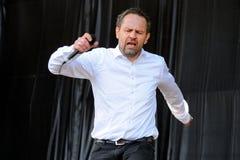 Einar Orn Benediktsson, cantante della banda di Digital del fantasma Fotografia Stock