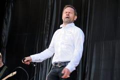 Einar Orn Benediktsson sångare av den spökeDigital musikbandet Fotografering för Bildbyråer