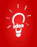 Einblick der guten Idee lizenzfreie abbildung