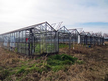 Einblick in eine verlassene Gartenarbeit Stockfotografie