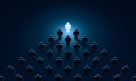 Einblicksymbolfiguren von Leuten Wiedergabe der Illustration 3D Stockfoto