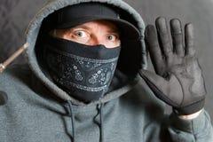 Einbrecher Busted Stockfoto