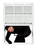 Einbrecher: Dieb Happy, zum herein zu brechen Lizenzfreie Stockbilder