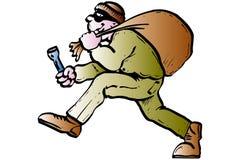 Einbrecher mit Schablone Lizenzfreies Stockfoto