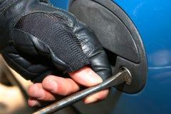 Einbruch auf Auto Lizenzfreie Stockfotos