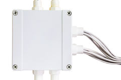 Eind elektrische doos Stock Foto