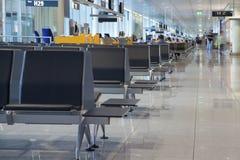 Eind het wachten van de luchthaven zitkamer royalty-vrije stock foto