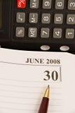 Eind van Begrotingsjaar 2008 Stock Foto's