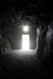 Eind van de donkere tunnel Royalty-vrije Stock Foto