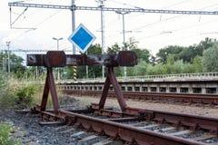 Eind van de lijn van spoorweg royalty-vrije stock foto