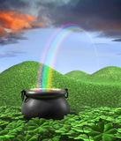 Eind van de Regenboog stock illustratie