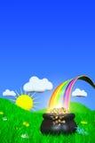 Eind van de Regenboog Royalty-vrije Stock Afbeeldingen