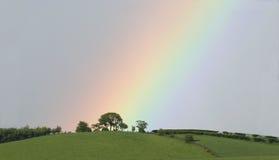 Eind van de regenboog Stock Fotografie