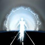 Eind van de Tunnel, het Leven na dood stock illustratie
