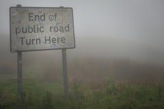 Eind van de weg Stock Afbeelding