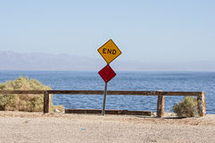 Eind van de weg Stock Fotografie