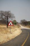 Eind van de Weg in Afrika Stock Foto's