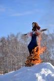 Eind van de winter en begin van de lente Royalty-vrije Stock Afbeeldingen