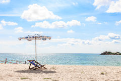 Eind van de zomer op het strand stock foto's