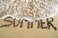 Eind van de zomer - op het strand Stock Afbeelding