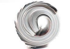 Eind van Gerolde Tijdschriften Stock Afbeeldingen