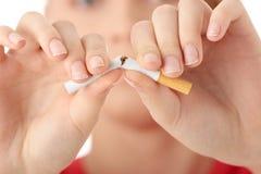 Eind van het roken Stock Foto's