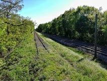 Eind van het Spoor stock afbeelding