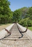 Eind van het spoorwegspoor Royalty-vrije Stock Afbeelding