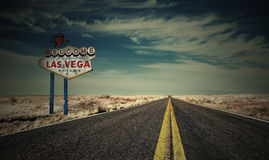 Eind van Las Vegas royalty-vrije stock fotografie