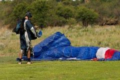 Eind van skydive stock afbeelding