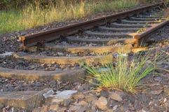 Eind van spoor Stock Foto's