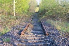 Eind van spoor Stock Foto