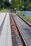 Eind van spoorweg royalty-vrije stock afbeeldingen