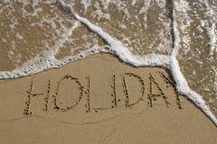 Eind van vakantie Stock Foto